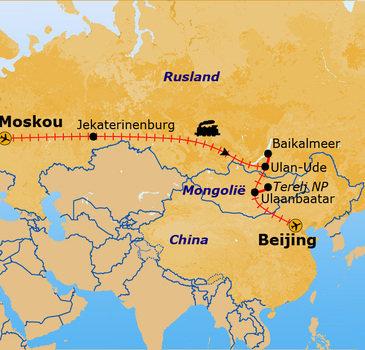 route Trans-Siberië, 21 dagen