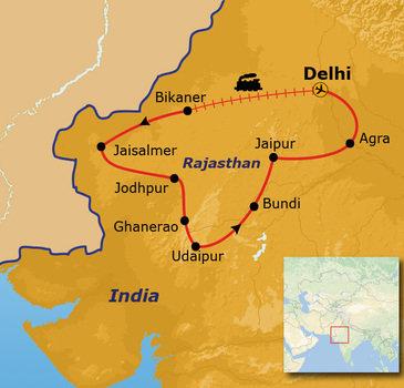 Route Rajasthan, 20 dagen