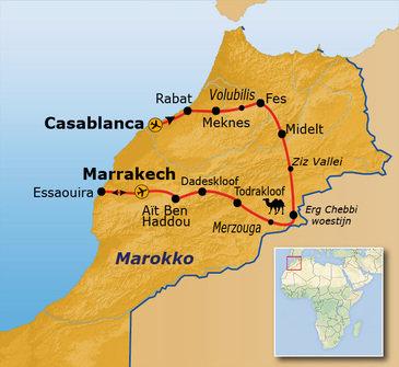Route Marokko, 14 dagen, 2019