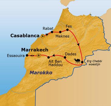 Route Marokko, 14 dagen