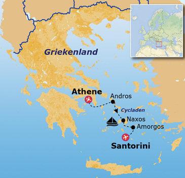 Route Jongerenreis Griekenland, 15 dagen