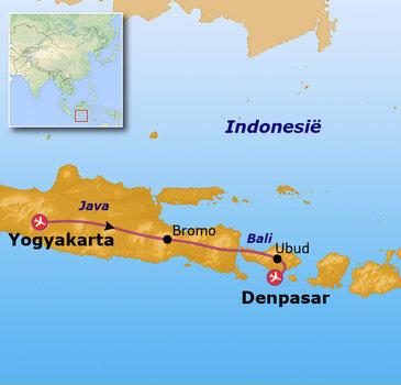 Route Jongerenreis Indonesië - Java & Bali, 21 dagen