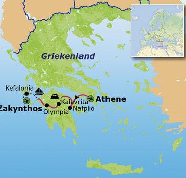 Route Griekenland, 15 dagen
