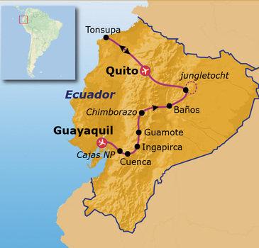 Route Jongerenreis door Ecuador, 23 dagen