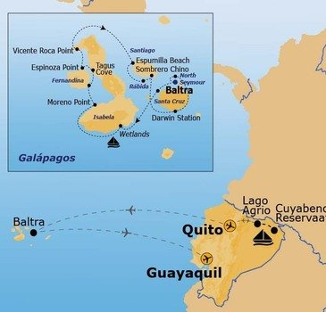 Route Amazone en Galapagos
