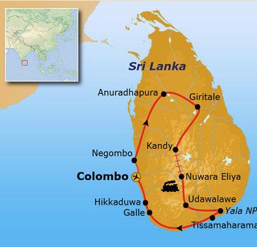 Route Sri Lanka, 16 dagen - Hikkaduwa