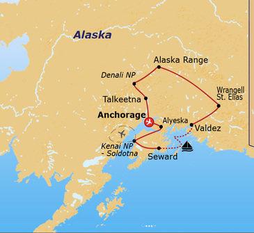 Route Alaska, 14 dagen