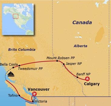 Route Canada, 15 dagen