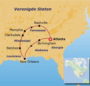 Route Verenigde Staten Zuid, 12 dagen