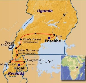 Route Uganda en Rwanda, 16 dagen