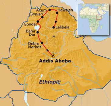 Route Noord Ethiopie, 19 dagen