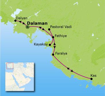 Route Zuid-Turkije reis, 15 dagen