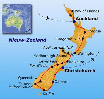 Route 2017 (tot maart), Nieuw-Zeeland, 29 dagen