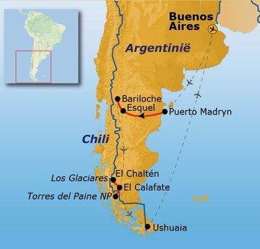 Route Patagonië, 23 dagen