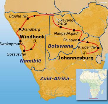 Route Namibië, Botswana & Zuid-Afrika - 23-daagse reis