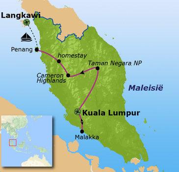 Route Maleisië, 20 dagen