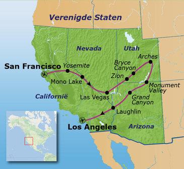 Route Verenigde Staten, 22 dagen