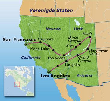 Route Verenigde Staten, 20 dagen