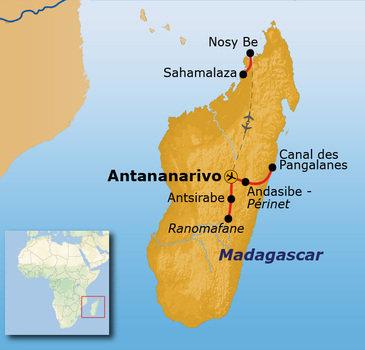 Route Madagascar, 20 dagen