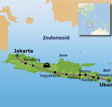Route Java en Bali, 17 dagen