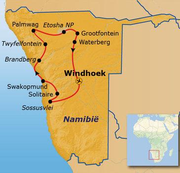 Route Namibië - 20-daagse reis
