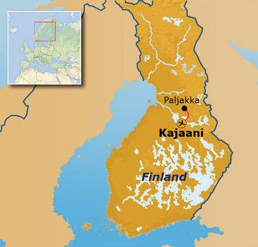 Route Finland Winter Paljakka, 8 dagen