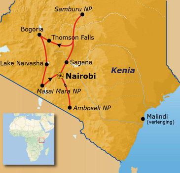 Route Kenia, 16 dagen