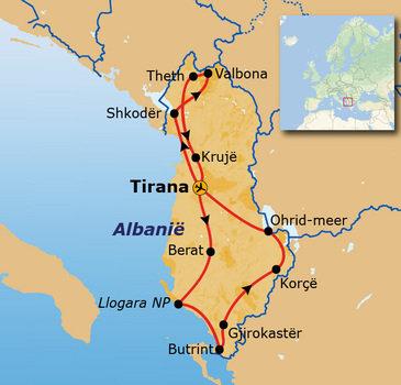 Route Albanië, 15 dagen