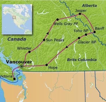 Route Canada, 21 dagen