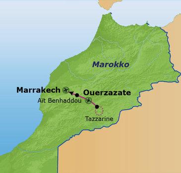 Route Marokko Familiereis, 8 dagen