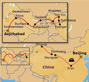 Route Zijderoute, 31 dagen