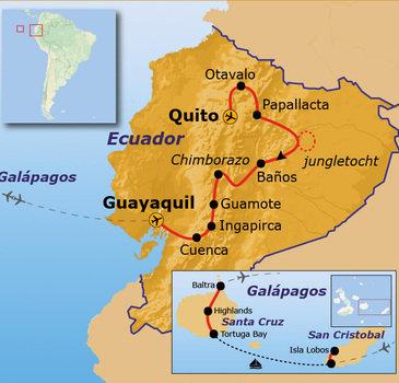 Route Ecuador en Galapagos, 21 dagen