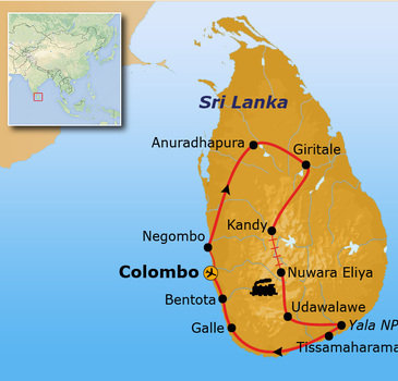 Route Sri Lanka, 16 dagen - Bentota