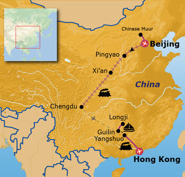 Route Jongerenreis China, 23 dagen