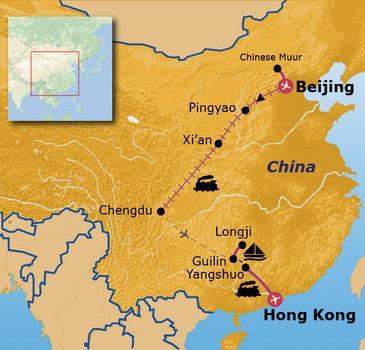 routekaartje Rondreis China Go-26