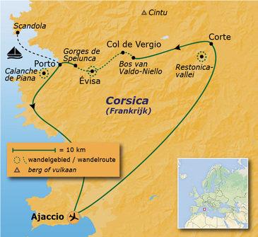 Route 8 daagse rondreis Corsica Anders Reizen wandelvakantie