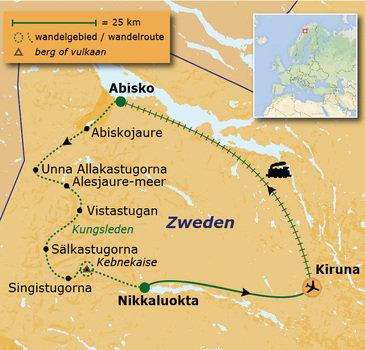 Route 10 daagse rondreis Zweden - Lapland: Kungsleden Anders Reizen wandelvakantie