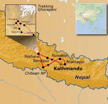 Route Nepal, 17 dagen