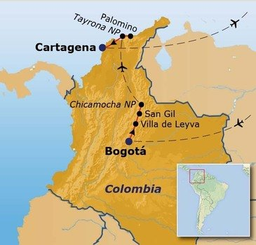 Route Colombia, 18 dagen