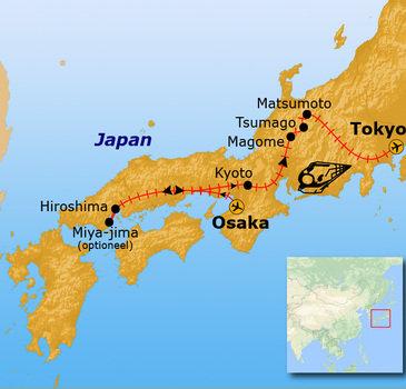 Route Japan, 14 dagen
