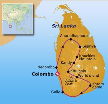Route 18 daagse rondreis Sri Lanka Go-26