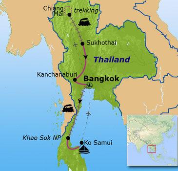 Route Thailand Noord en Zuid, 21-dagen