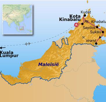 routekaartje Rondreis Maleisië - Borneo Go-26