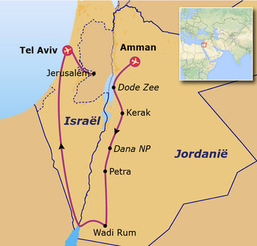 Route 14 daagse rondreis Jordanië & Israël