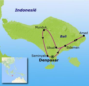 Route Bali, 16 dagen