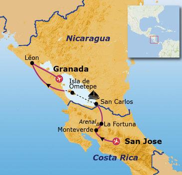 Route 23 daagse rondreis Costa Rica & Nicaragua