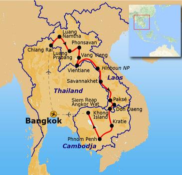 Route Laos & Cambodja, 30 dagen