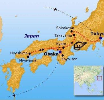 Route Japan, 16 dagen - juli 2017
