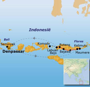 Route Flores en Bali, 20 dagen
