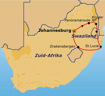 Route Zuid-Afrika, 15 dagen (2018)